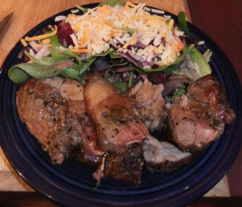 Mouth-Watering Rosemary-Garlic Lamb Roast, Plated